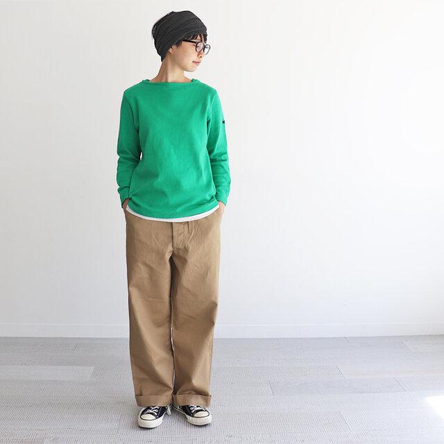 グリーン / 0 着用、モデル身長:164cm