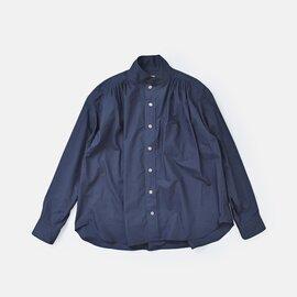 EAST HIGH ROOM|コットンウェザーギャザータック台衿シャツ 113136-mt