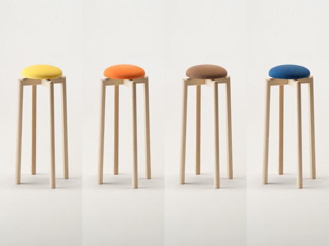 SH:650mm カラー(左から):イエロー、オレンジ、ブラウン、ブルー