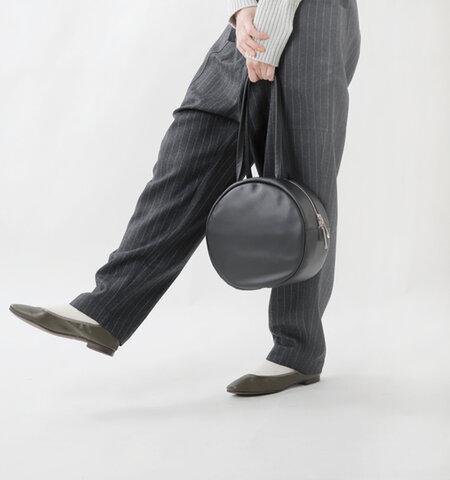 ikot|ソフトカウレザー丸型トートバッグ ik121316-mt