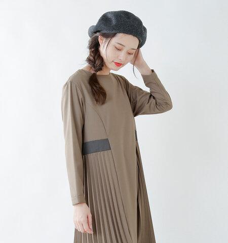 "【2019AW】kelen|T/Rクロスサイドプリーツドレス""Seana"" lkl18fop4-rf"