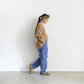 ichi Antiquités|Cotton Herringbone Color Work Pants