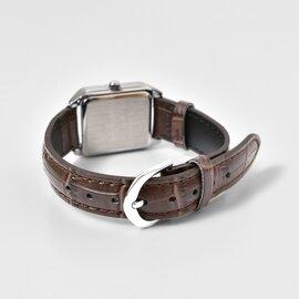 CASIO スクエアケースレザーベルト腕時計 ltp-v007l-rf (母の日おすすめ)