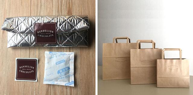 ・気温の高い季節(目安25度以上)にお持ち歩きになる場合は保冷バッグと保冷材もご用意しております(無料)。 ・ご希望の場合はご注文の際、備考欄にご記入ください。 ・封をするためのダンデライオンオリジナルのシールもおつけしています。保冷剤は冷凍してからご利用ください。 ・紙袋もご用意しておりますのでご希望の場合はご注文の際、入力欄に必要枚数をご記入ください。(無料)