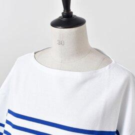 ORCIVAL|コットンボーダー7分袖カットソー 6814