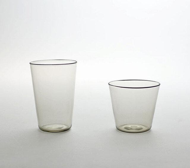 スモーク カップ(左)ロンググラス(右)ショートグラス