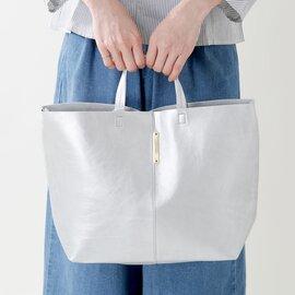 yucchino|OTONA eco-bag レザーショルダーバッグS メタリックシルバー otona-eco-bag-shs-12800-ms