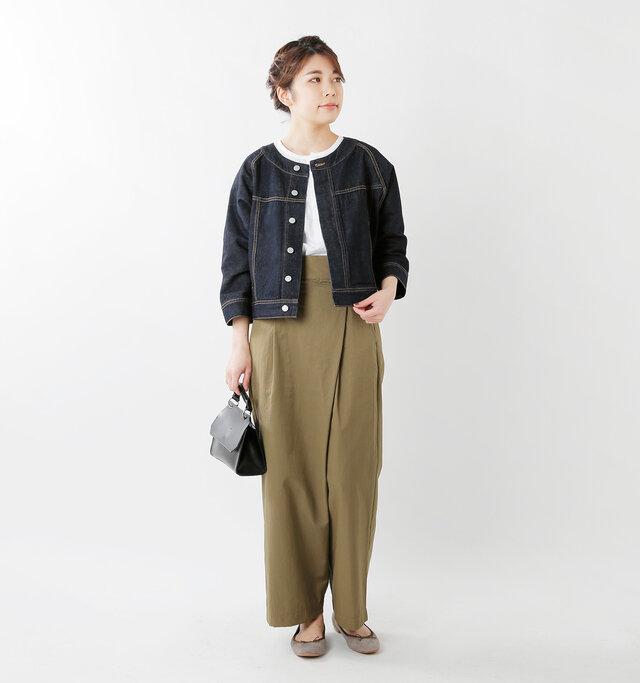 model hikari:165cm / 48kg color : one wash / size : S