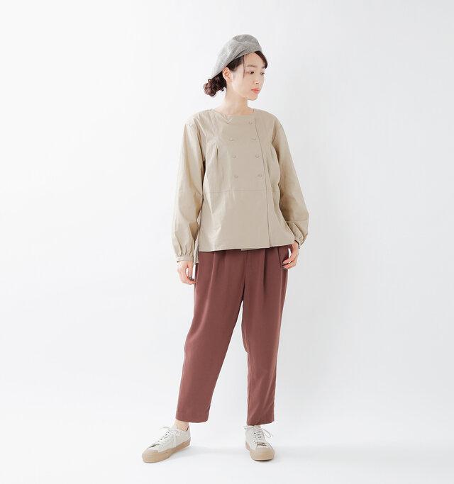 model mizuki:168cm / 50kg  color : red brown / size : M