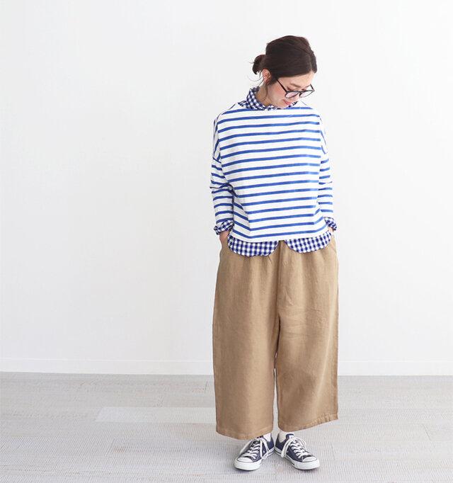 ブルー×ホワイト 着用、モデル身長:165cm