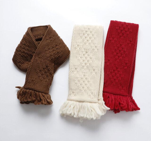 color:ブラウン、オフホワイト、レッド