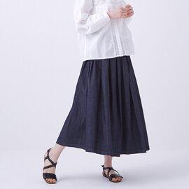 GRANDMA MAMA DAUGHTER|デニムプリーツスカート