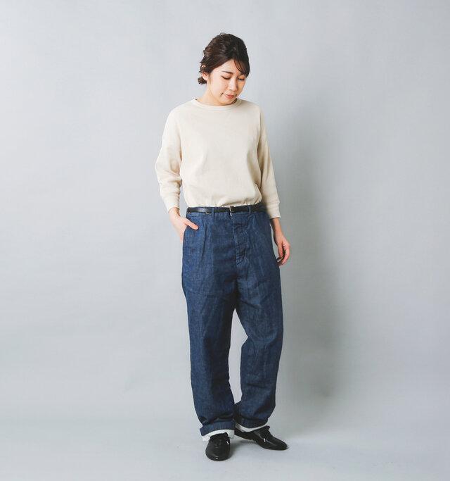 model:165cm / 48kg color : DENIM / size : 0