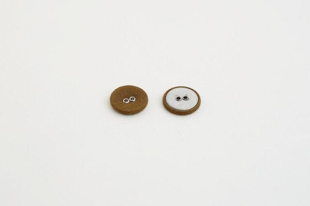 DARUMA FABRIC 2つ穴クルミボタン 18mm