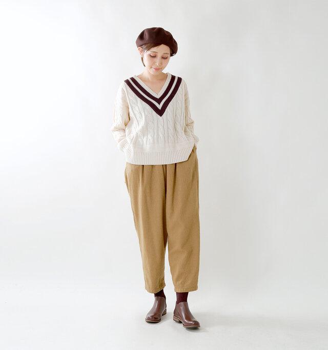model yama:167cm / 49kg color : dark brown / size : 38(約24.0cm)