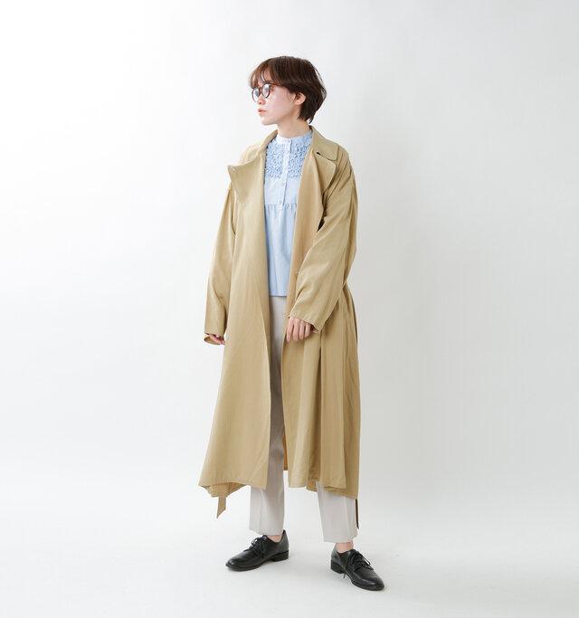 model saku:163cm / 43kg  color :beige / size : F