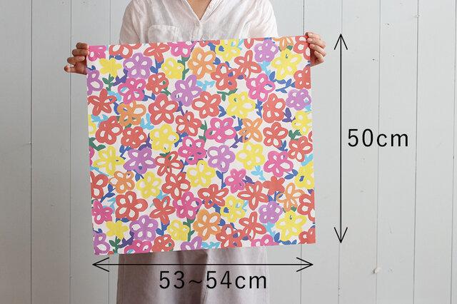 50×53cm程度のスクエア布です。 何かと使いやすいのがこのサイズ。