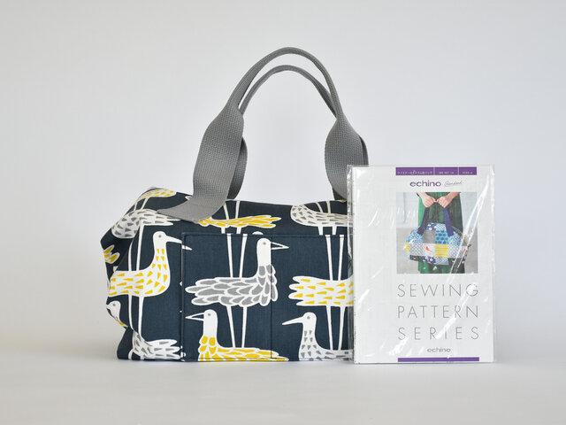 ちょっとしたスキマ時間にバッグ作り♪大柄の生地を使って、大胆なバッグを仕上げるのもいいですね。