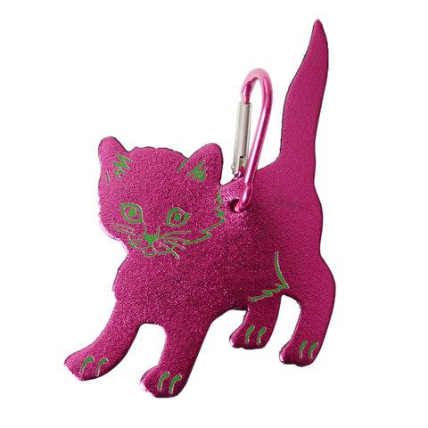 ARK|BAG TAG CAT METALLIC CHARM バッグタグメタリックレザーキャットチャーム 猫チャーム・53193-3-00201 アーク