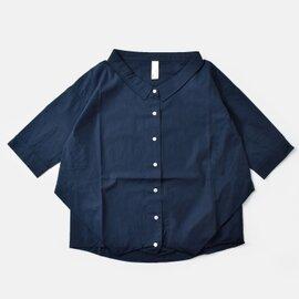 "kelen│5分袖変形タックシャツ""TYDE"" lkl17hbl27-yh"