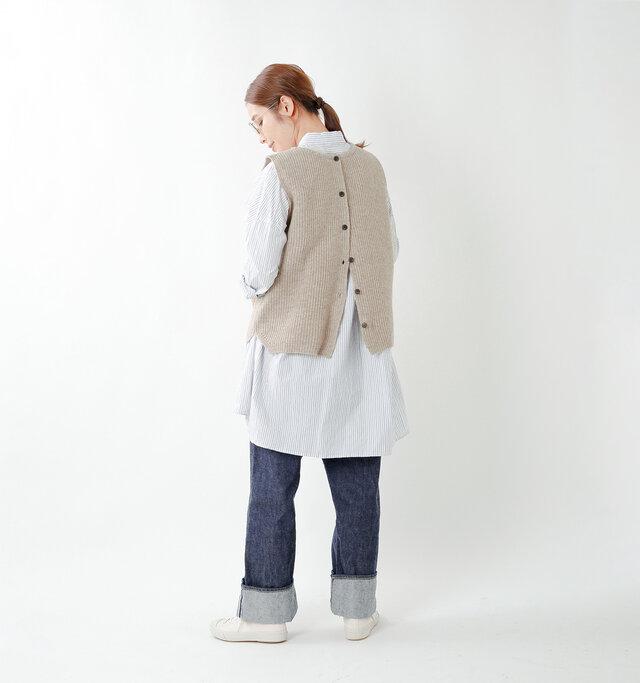 model yama:167cm / 49kg color : cork beige / size : M