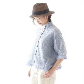 【限定カラーも登場】SETTO|リネンオッカケシャツスタンドカラーシャツ LINEN OKKAKE SHIRT・STL-SH016L セット