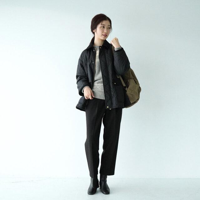 モデル:166cm / 47kg color : black(col.99) / size : フリーサイズ
