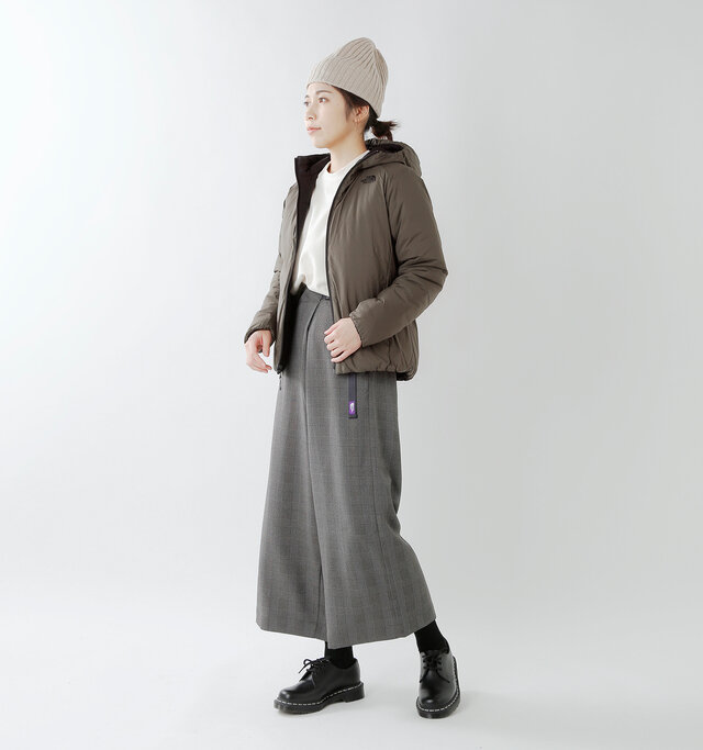 model hikari:165cm / 48kg color : black newtaupe / size : womens M