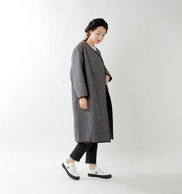model mizuki:168cm / 50kg  color : white×black / size : 5