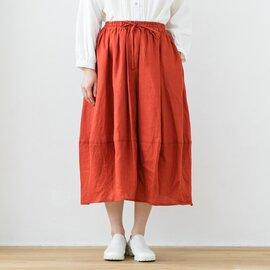 TUTIE. リネンソリッドカラームジコクーンスカート