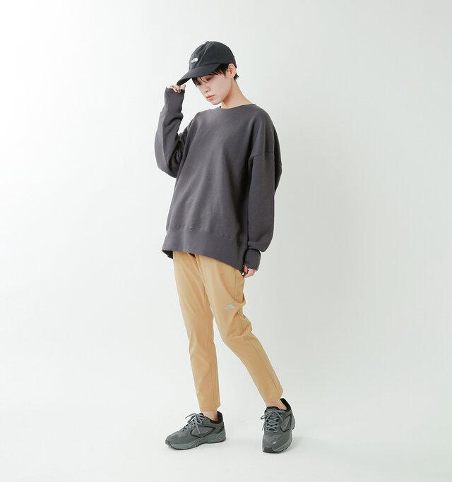 model saku:163cm / 43kg  color : moab khaki / size : womansS