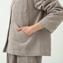 TUTIE. コットンリネンコーデュロイスタンドカラージャケット