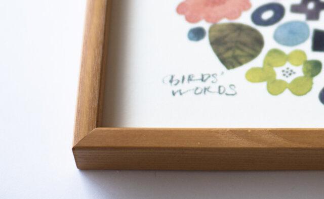 ポスターの左下には「BIRDS' WORDS」のサインが。