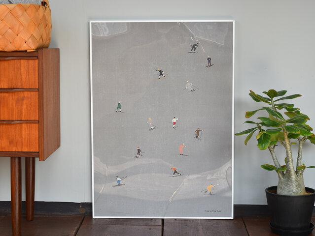 FineLittleDay|ポスター SKIERS 50×70cm