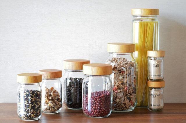パスタケースなどの保存容器とシリーズで揃えれば、キッチンまわりがすっきりおしゃれな印象に