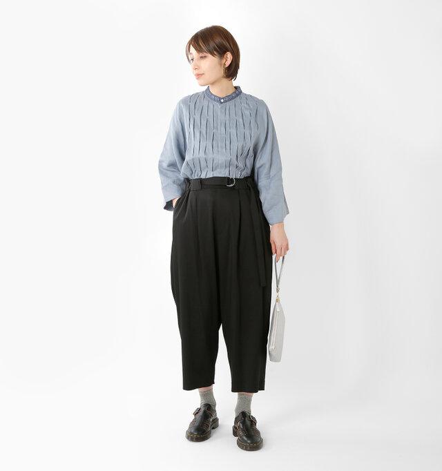 model yama:167cm / 49kg color : black smooth / size : 38
