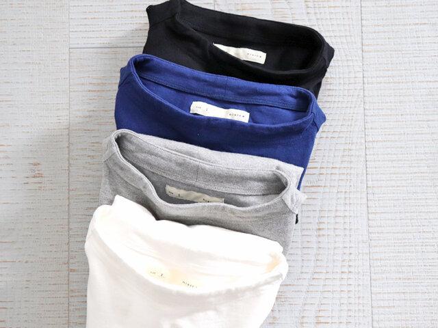 カラーは、ホワイト、ブルー、グレー、ブラックの4色をご用意しています。