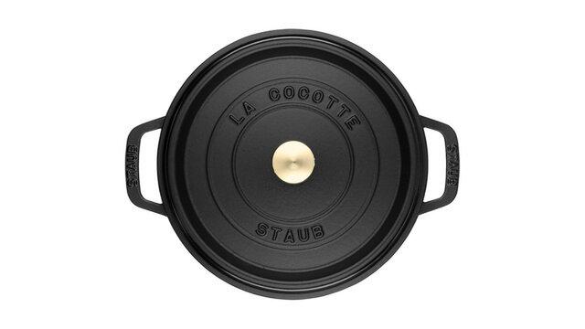 STAUB ココット ラウンド 18cm ブラック