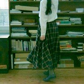 GRANDMA MAMA DAUGHTER チェックタックフレアスカート