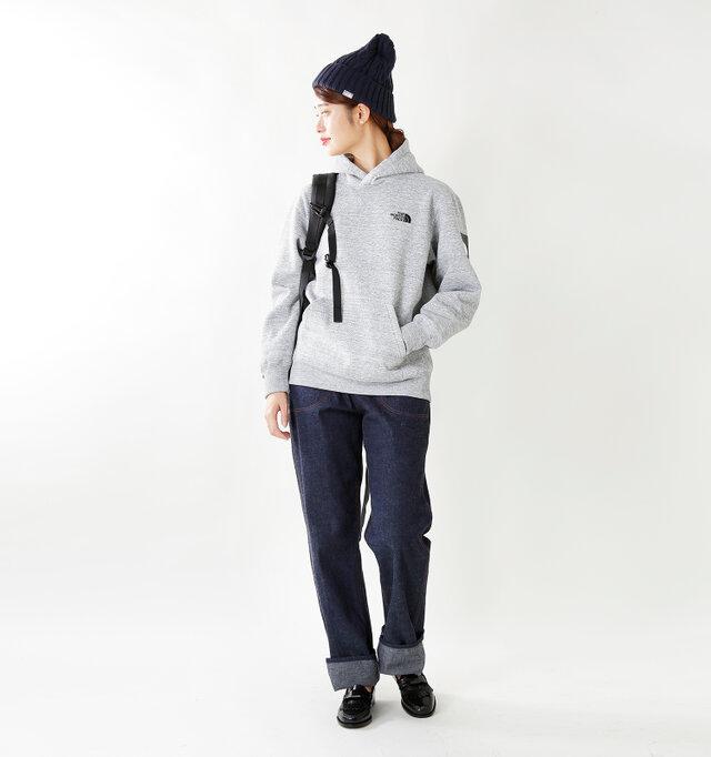 model kanae:167cm / 48kg color : mix gray / size : M