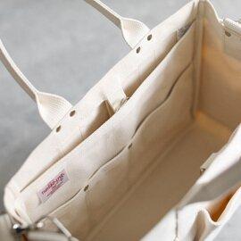 松野屋|6号帆布7Pツールトート ショルダー付き