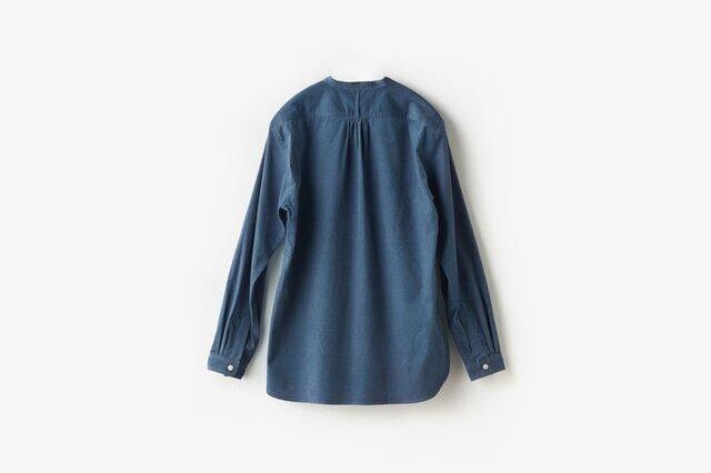ASEEDONCLOUD|HW collarless shirt corduroy blue