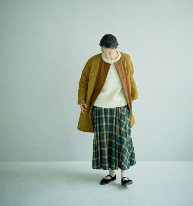 着用アイテム:3) KINARI + 12) GREEN