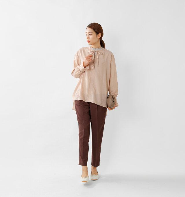 model mizuki:168cm / 50kg  color : grage / size : F