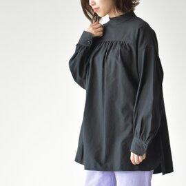 Phlannel|コットンウールスタンドカラーチュニックシャツ Cotton Wool Stand collar Tunic Shirt BBZ1092204A0002 フランネル