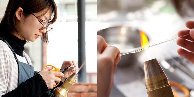 工房では、30代前後の若い職人たちが、日々アクセサリー作りに取り組んでいます。(写真/神ノ川智早)