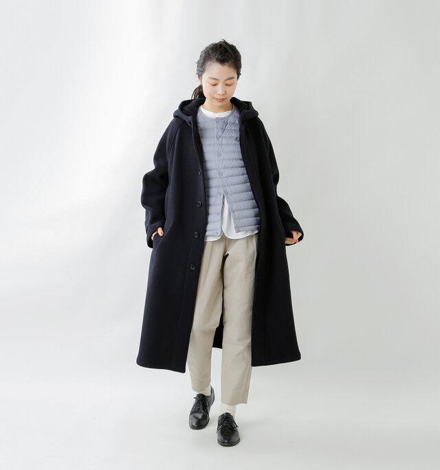 model mariko:162cm / 47kg  color : sax / size : 1