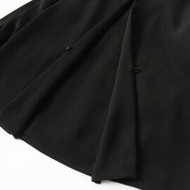 WHYTO|ホワイト ダブルサテンノーカラージップジャケット ・WHT17HJK1