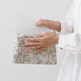 TUTIE. 抗菌・防臭・抗ウイルス加工・日本製 コットンリネンプリントマスクケース