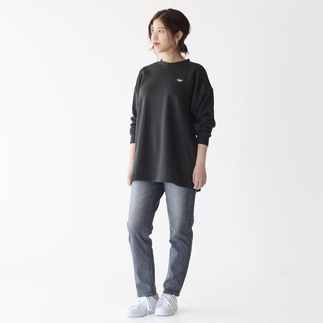 モデル: 157cm / 47kg 着用サイズ:S 着用カラー:ブラック